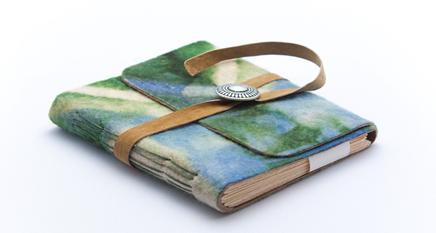 Resist-Dyed Merino Wool Journal
